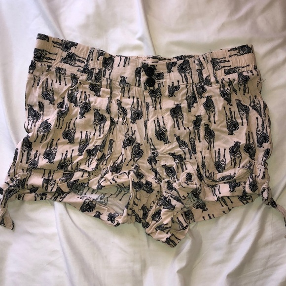 Jolt Pants - zebra print fabric shortsssss